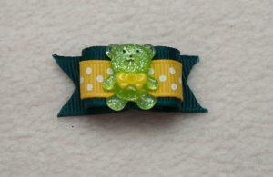 Lacito verde y amarillo con osito-238